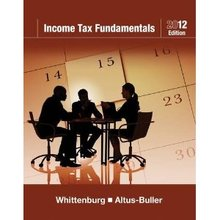 Income Tax Fundamentals 2012 Whittenburg Altus-Buller 30th Edition Test Bank
