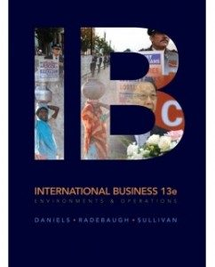 Test Bank for IB International Business 13th Edition John Daniels