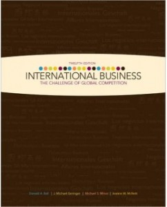 Test Bank for International Business, 12th Edition: Donald Ball
