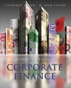 Test Bank for Introduction to Corporate Finance 2nd Edition Booth