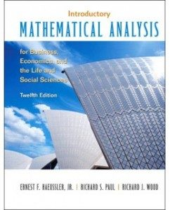 Test Bank for Introductory Mathematical Analysis, 12th Edition: Ernest F. Haeussler