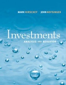 Test Bank for Investments Analysis and Behavior, 1st Edition: Hirschey