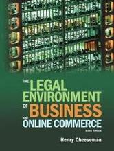 Legal Environment of Business and Online Commerce Cheeseman 6th Edition Test Bank