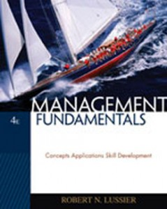 Test Bank for Management Fundamentals Concepts Applications Skill Development, 4th Edition: Lussier