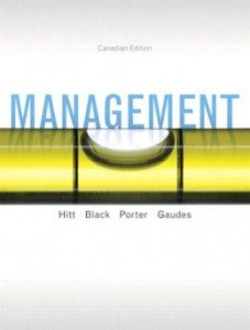 Test Bank for Management, 1st Canadian Edition: Hitt