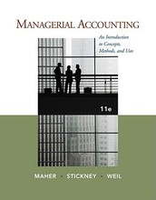 Managerial Accounting An Introduction to Concepts, Methods and Uses Maher 11th Edition Test Bank