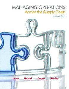 Test Bank for Managing Operations Across the Supply Chain, 2nd Edition : Swink