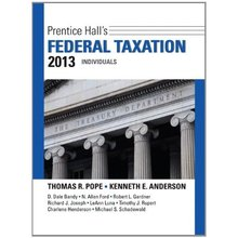 Prentice Hall's Federal Taxation 2013 Individuals Pope 26th Edition Solutions Manual
