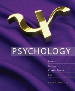 Test Bank for Psychology, 9th Edition : Bernstein