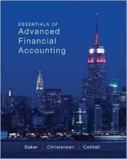Solution Manual For Accounting Essentials of Advanced Financial Accounting Richard E. Baker , 1ST EDITION