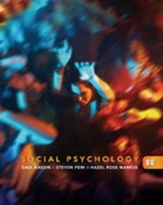 Test Bank for Social Psychology, 8th Edition: Kassin