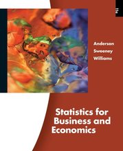 Statistics for Business and Economics Anderson 11th Edition Test Bank