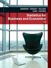 Statistics for Business and Economics Anderson 12th Edition Solutions Manual
