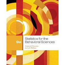 Statistics for the Behavioral Sciences Gravetter 9th Edition Test Bank