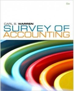 Test Bank for Survey of Accounting 5th Edition Carl S Warren