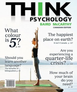 Test Bank for THINK Psychology, 1st Canadian Edition: Baird