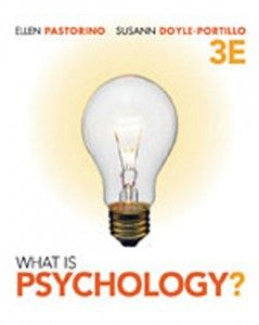Test Bank for What is Psychology, 3rd Edition: Pastorino