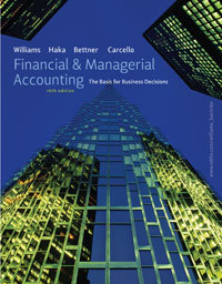 Test Bank For Financial & Managerial Accounting 16th (Sixteenth) Edition by Jan R. Williams, Sue F. Haka, Mark S. Bettner, Joseph V. Carcello
