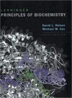 Lehninger Principles of Biochemistry Nelson 5th Edition Test Bank