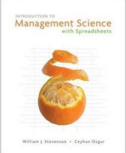 Test Bank For Introduction to Management Science with Spreadsheets 1st Edition by William Stevenson, Ceyhun Ozgur