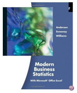 Solution Manual for Modern Business Statistics 4th Edition by Anderson