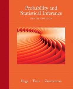 Probability and Statistical Inference Hogg 9th Edition Solutions Manual