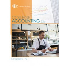 Test Bank for College Accounting, Chapters 1-9, 22nd Edition
