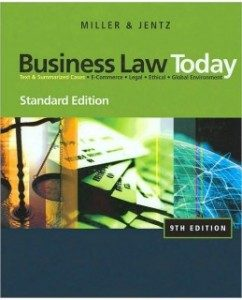 Test Bank for Business Law Today, Standard Edition, 9th Edition: Roger L. Miller