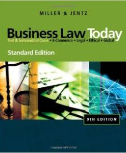 Test Bank for Business Law Today, Standard Edition, 10th Edition by Miller