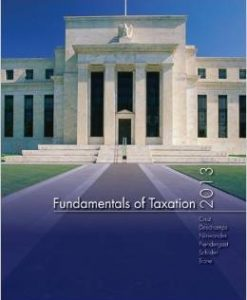 Solution Manual For Fundamentals of Taxation 2013 6th Edition by Ana Cruz, Michael Deschamps, Frederick Niswander, Debra Prendergast, Dan Schisler, Jinhee Trone