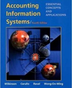 Test Bank For Accounting Information Systems: Essential Concepts and Applications, 4th Edition by Joseph W. Wilkinson, Michael J. Cerullo, Vasant Raval, Bernard Wong-On-Wing