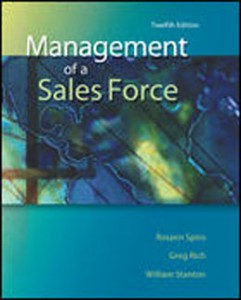 Test Bank for Management of a Sales Force, 12th Edition: Spiro