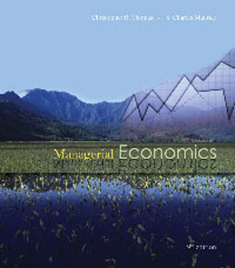Test Bank for Managerial Economics, 9th Edition: Thomas