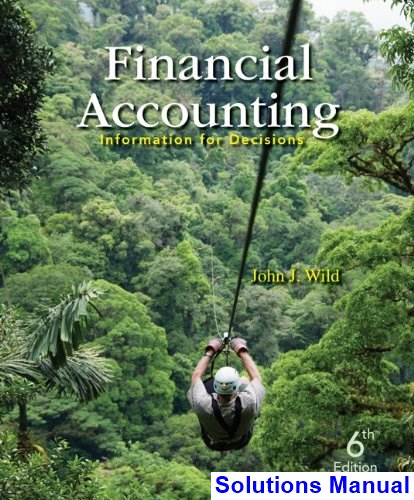 Financial Accounting Information for Decisions 6th Edition Wild Solutions Manual