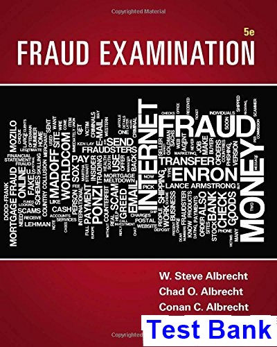Fraud Examination 5th Edition Albrecht Test Bank