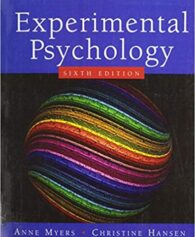 Test Bank for Experimental Psychology 7th Edition