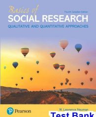 Basics of Social Research Canadian 4th Edition Neuman Test Bank