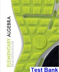 Elementary Algebra 1st Edition Bracken Test Bank