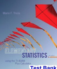 Elementary Statistics 6th Edition Larson Test Bank