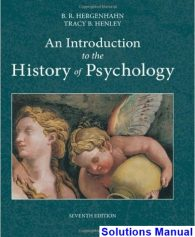 Introduction to the History of Psychology 7th Edition Hergenhahn Solutions Manual