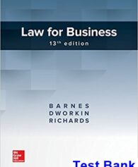 Law for Business 13th Edition Barnes Test Bank