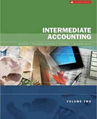 Solution Manual for Intermediate Accounting, Volume 2, Seventh Canadian Edition