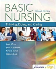 Test Bank for Advantage Basic Nursing Thinking, Doing, and Caring 2nd by Treas Davis
