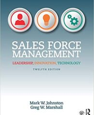 Test Bank for Sales Force Management 12th by Johnston