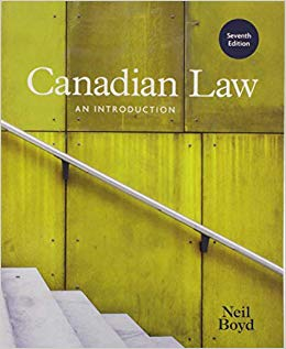 Test Bank for Canadian Law An Introduction 7th by Boyd