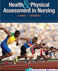 Health and Physical Assessment In Nursing 3rd Edition DAmico Solutions Manual