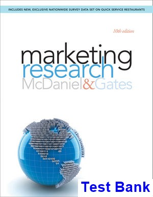 Marketing Research 10th Edition McDaniel Test Bank