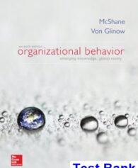 Organizational Behavior Emerging Knowledge Global Reality 7th Edition McShane Test Bank