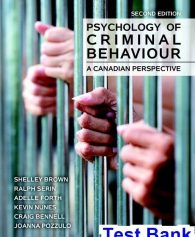 Psychology of Criminal Behaviour A Canadian Perspective Canadian 2nd Edition Brown Test Bank