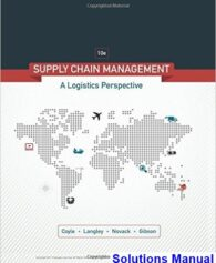 Supply Chain Management A Logistics Perspective 10th Edition Coyle Solutions Manual